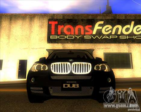 BMW X5 dubstore for GTA San Andreas bottom view