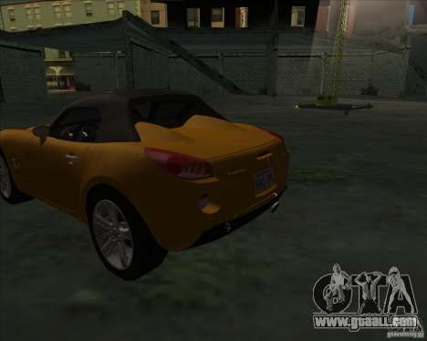 Pontiac Solstice for GTA San Andreas back left view