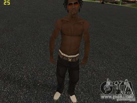 Afro-American Boy for GTA San Andreas forth screenshot