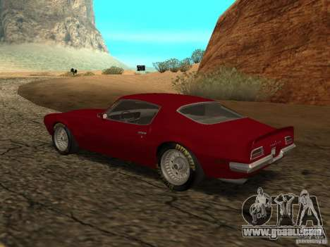 Pontiac Firebird 1970 for GTA San Andreas left view