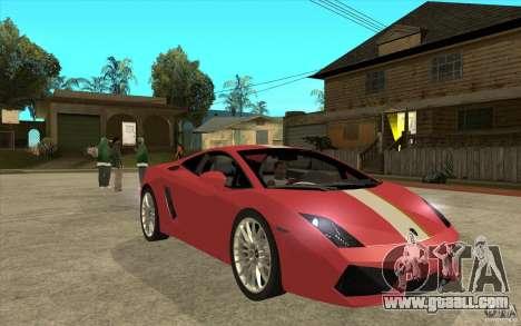 Lamborghini Gallardo LP550 Valentino Balboni for GTA San Andreas back view