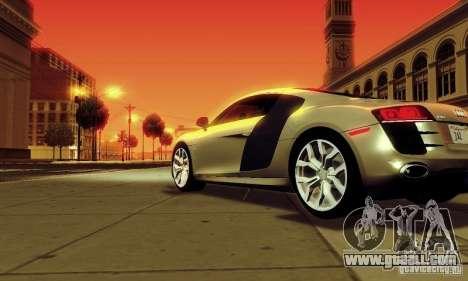 Audi R8 5.2 FSI Quattro for GTA San Andreas left view