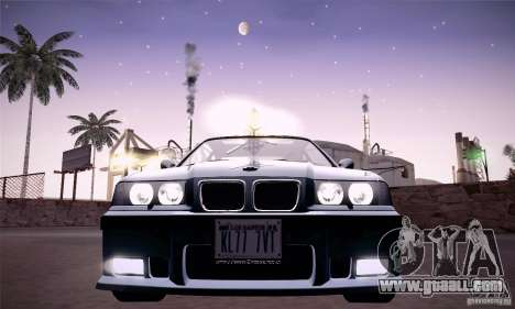 BMW E36 M3 Coupe - Stock for GTA San Andreas back view