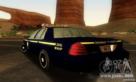 Ford Crown Victoria Nevada Police for GTA San Andreas left view