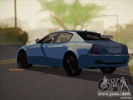 Maserati Quattroporte v3.0 for GTA San Andreas left view