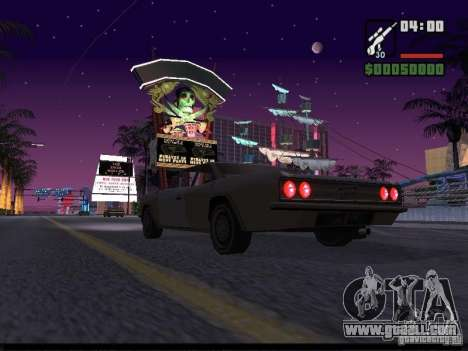 Starry sky v2.0 (for SA: MP) for GTA San Andreas forth screenshot
