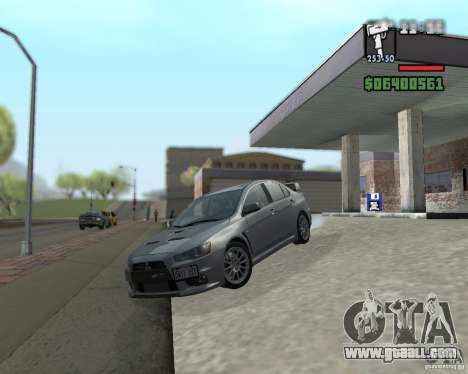 Mitsubishi Lancer Evolution X for GTA San Andreas back left view