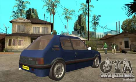 Peugeot 205 GTI for GTA San Andreas right view