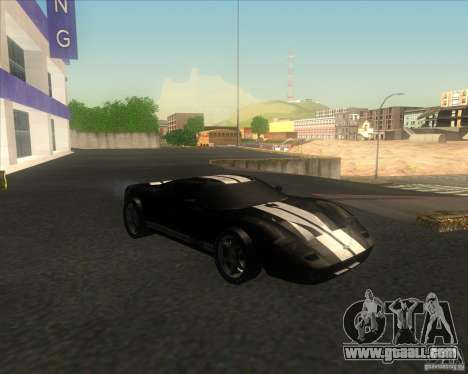 Ford GT stock for GTA San Andreas