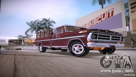 Ford F-100 1981 for GTA Vice City back left view