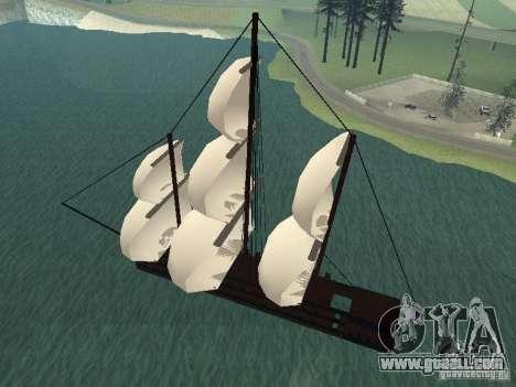 XVIII Century Battleship for GTA San Andreas left view
