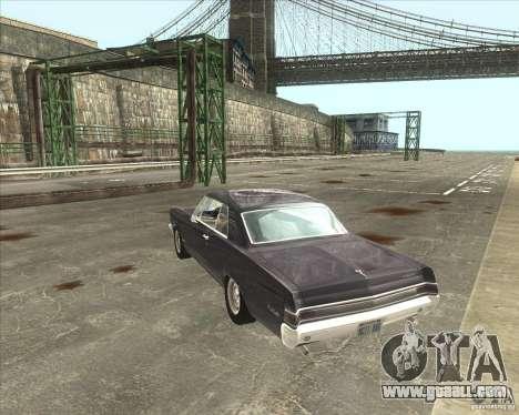 Pontiac GTO 1965 for GTA San Andreas inner view