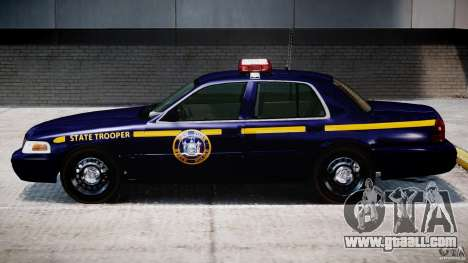 Ford Crown Victoria New York State Patrol [ELS] for GTA 4 back left view