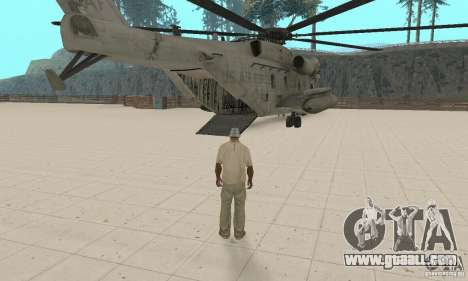 Sikorsky MH-53 for GTA San Andreas inner view