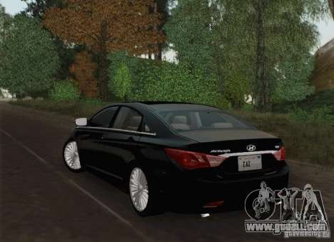 Hyundai Sonata 2012 for GTA San Andreas bottom view