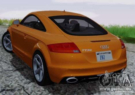 Audi TT-RS Coupe for GTA San Andreas upper view