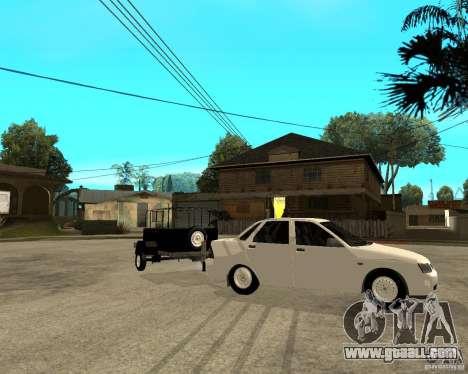 "LADA 2170 ""priora"" Light tuning + trailer for GTA San Andreas"