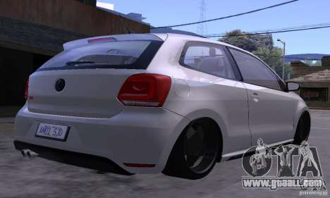 Volkswagen Polo GTI Stanced for GTA San Andreas inner view