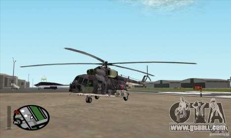 MI-8 Grey Camo for GTA San Andreas left view