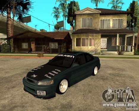 Honda Civic Coupe V-Tech for GTA San Andreas