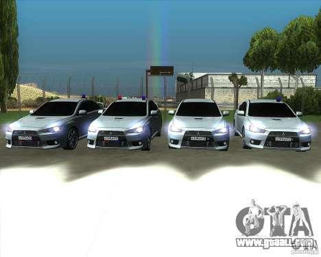 Mitsubishi Lancer Evolution X MR1 v2.0 for GTA San Andreas upper view
