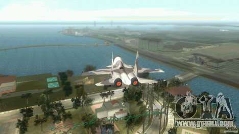 VC Air Force for GTA Vice City back left view