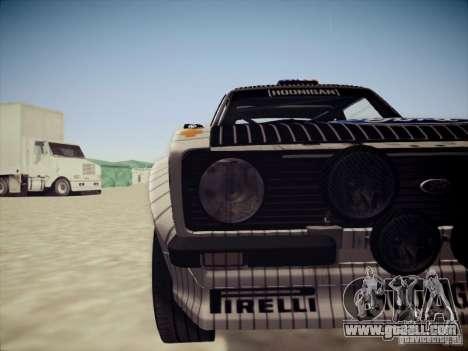 Ford Escort MK2 Gymkhana for GTA San Andreas inner view
