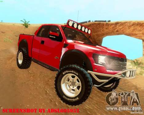 Ford F150 2011 SVT RapTor for GTA San Andreas right view