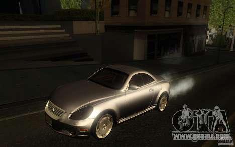 Lexus SC430 for GTA San Andreas back view