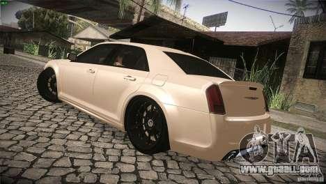 Chrysler 300 SRT8 2012 for GTA San Andreas bottom view