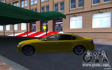 BMW M5 Gold Edition for GTA San Andreas inner view