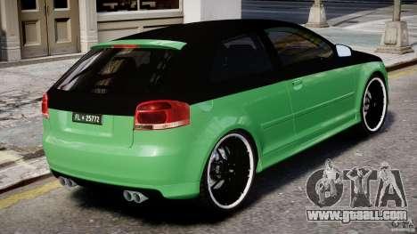 Audi S3 for GTA 4 interior