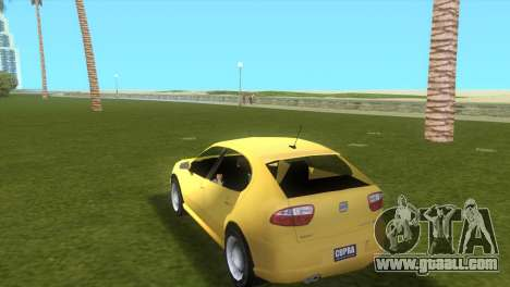 Seat Leon Cupra R for GTA Vice City left view