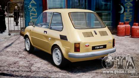 Fiat 126p 1976 for GTA 4 back left view
