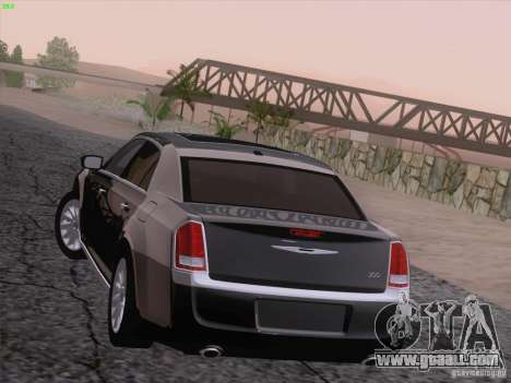 Chrysler 300 Limited 2013 for GTA San Andreas bottom view