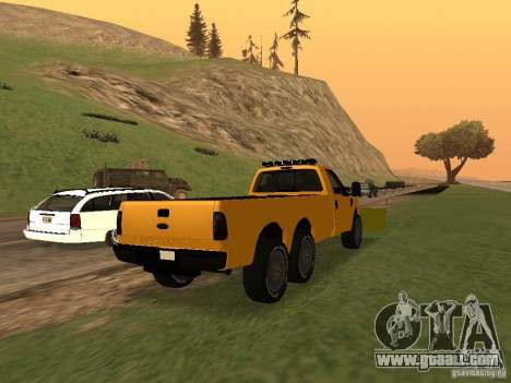 Ford Super Duty F-series for GTA San Andreas back left view