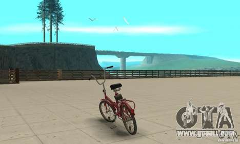 Kama bike for GTA San Andreas back left view