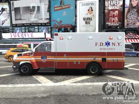 GMC C4500 Ambulance [ELS] for GTA 4 left view