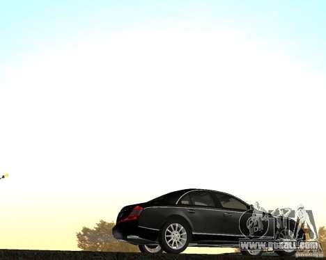 Maybach 57S for GTA San Andreas left view