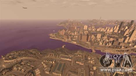 The purple color of the water for GTA 4 forth screenshot