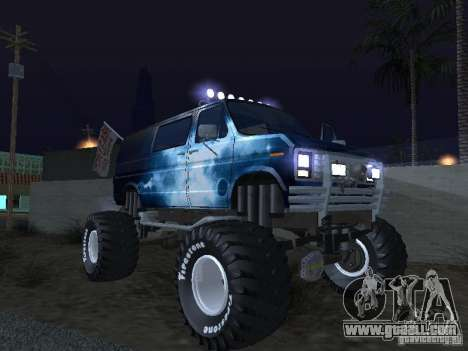Ford Grave Digger for GTA San Andreas side view