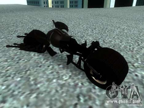 Batpod for GTA San Andreas back left view