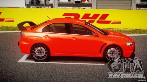 Mitsubishi Lancer Evo X 2011 for GTA 4 inner view