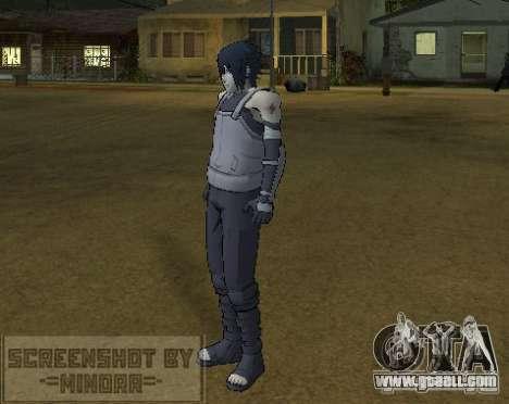 Skin Sasuke Anbu for GTA San Andreas third screenshot