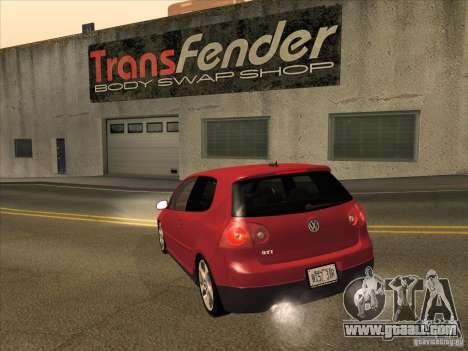 VW Golf Mk5 GTi - Stock: Tunable for GTA San Andreas back left view