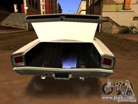 Plymouth GTX 1969 for GTA San Andreas back left view