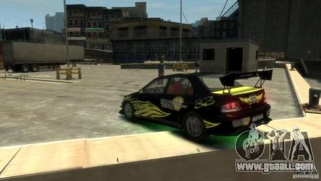 Mitsubishi EVO IX for GTA 4 back left view