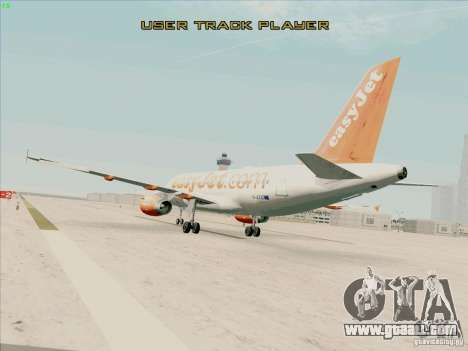 Airbus A319 Easyjet for GTA San Andreas left view