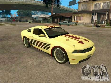 Ford Mustang Jade from NFS WM for GTA San Andreas left view