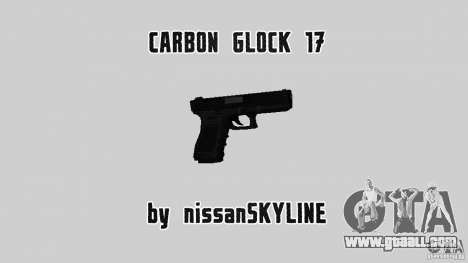 Carbon Glock 17 for GTA San Andreas